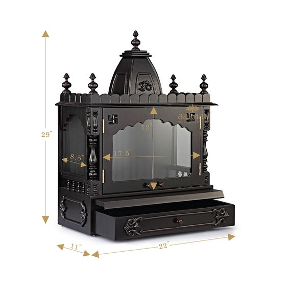 21 Vc Wd Wooden Temple Pooja Mandir For Home Puja Etsy