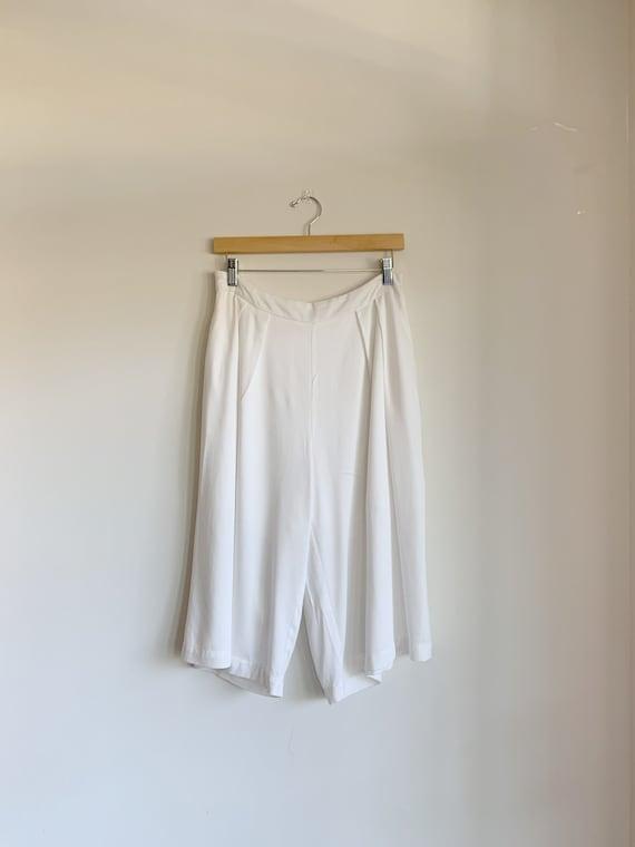 White long bermuda shorts, vintage white bermuda s