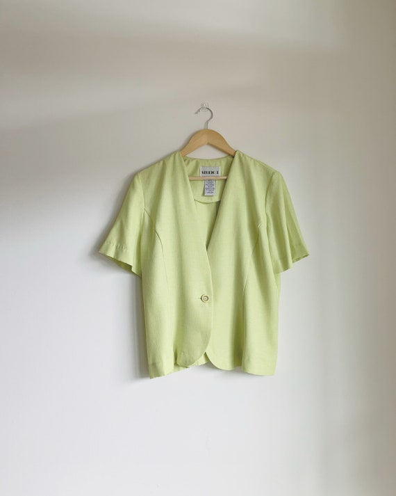 Lime green summer blazer, lime green blazer, green