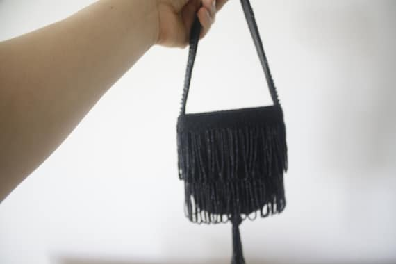 Beaded mini purse, beaded vintage purse, bead pur… - image 5
