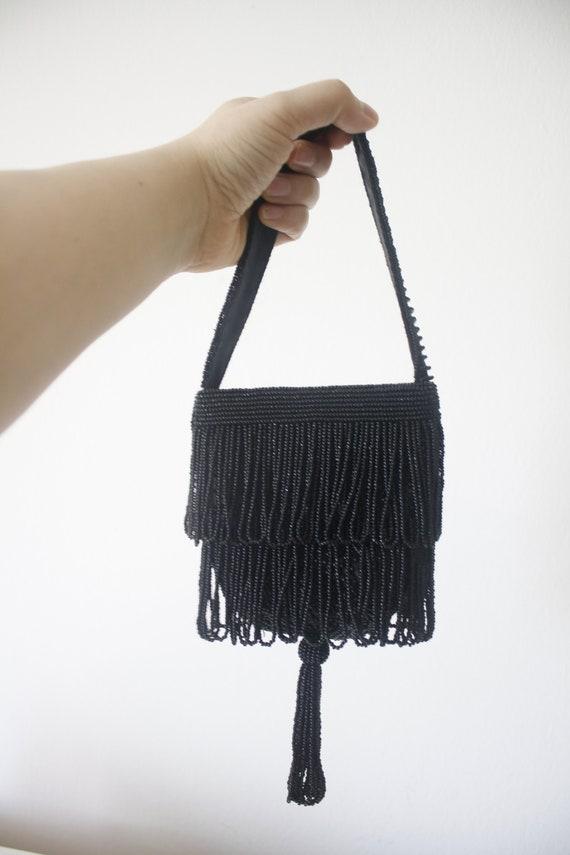 Beaded mini purse, beaded vintage purse, bead pur… - image 2