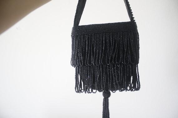 Beaded mini purse, beaded vintage purse, bead pur… - image 3