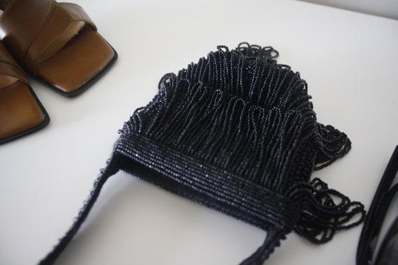 Beaded mini purse, beaded vintage purse, bead pur… - image 6