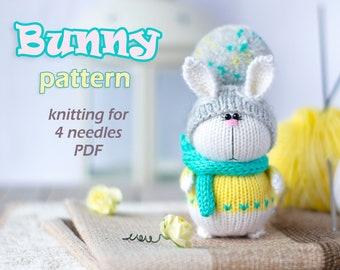 Toy knitting pattern , tutorial toy bunny , Knitted bunny pdf , Knitted bunny pattern , doll rabbit , knit rabbit , toy rabbit , knit toy