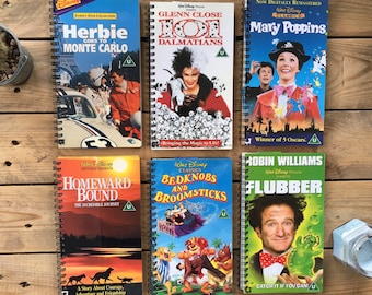 Recycled Disney VHS Notebook - Live Action