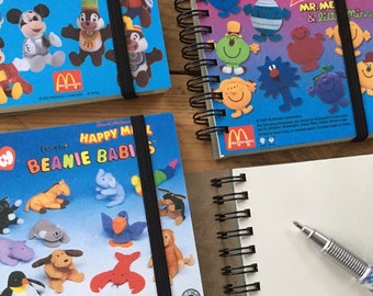 Recycled Small Vintage Happy Meal Notebook - Disney, Winnie the Pooh, Toy Story, Beanie babies etc
