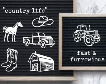 RANCH LIFE HORSES COWBOYS BUMPER STICKER DECAL FARM COUNTRY TRACTOR EQUESTRIAN