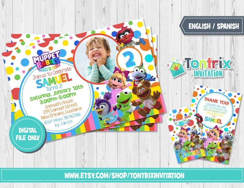 Muppet Babies Invitation Birthday