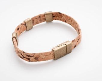 Cork bracelet men, Cork bracelet for men, Gift for Him