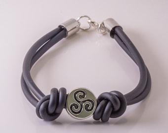 Rubber bracelet black, Black bracelet, Black bracelet for men, Mens bracelet