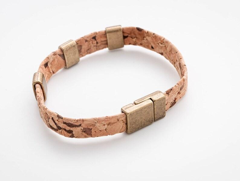 Cork bracelet men Cork bracelet for men Gift for Him image 0