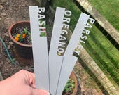 Plant Marker - LARGE, Herb Stake, Acrylic Herb Marker, Herbs, Herb Stakes