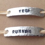 A set of 2 shoelace tags, shoelace tag, KEEP, RUNNINGCustom