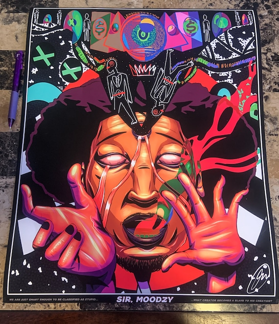 I M On Your Mind Trippy Poster Print By Raw And Stoned Etsy