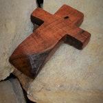 "Wood Wall Cross; Farmhouse decor; Unique Cross Wall Decor; Mesquite; Rustic decor; Christian Gift; Prayer Cross;  3""x5""x.5""; cc5-1011619"