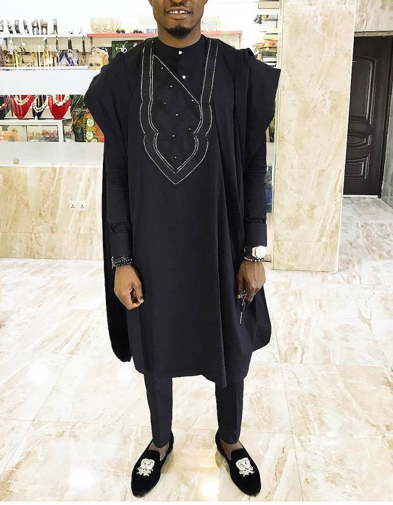 Men/'s agbada 3pcs traditional attireAfrican mens clothingAnkara mens clothing African kaftan African mens attire tunic .