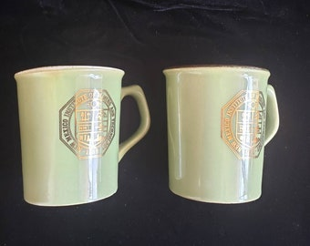 Rare New Mexico Institute of Mining and Technologie 1889 Collectable Memoriable made in USA 2 Ceramic Tea Mugs. Overall in very good condit