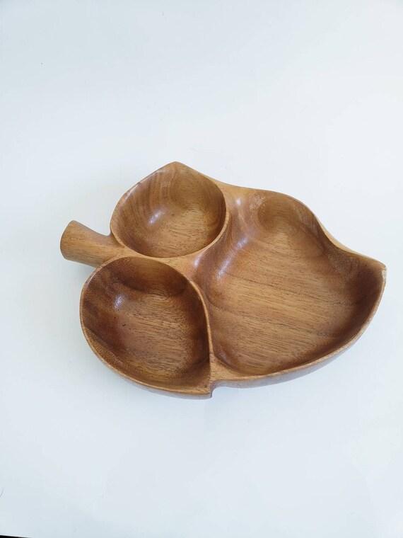 Handmade Solid Wood Leaf Tray