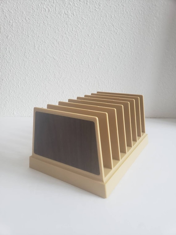 Vintage Retro Plastic Rogers Desktop Letter File Holder
