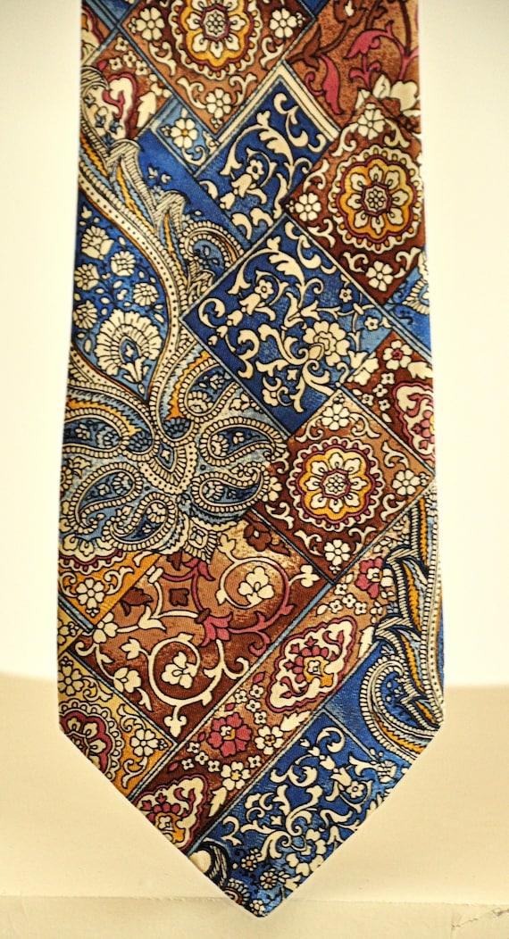 Sevini rare vintage tie 100% pure silk