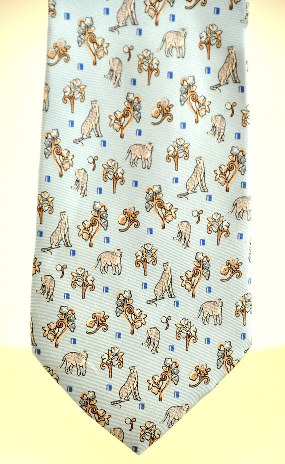 Krizia Man vintage rare tie 100% pure silk