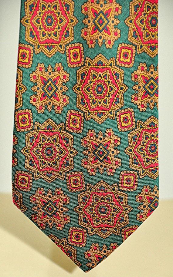 Lanvin rare vintage tie 100% pure silk