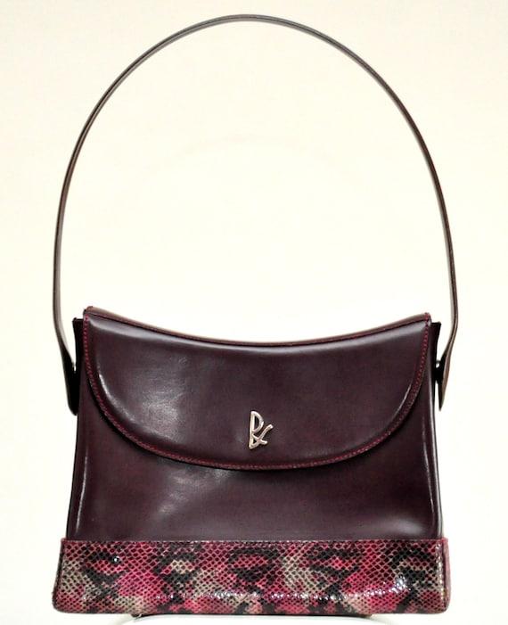 design senza tempo 66362 5b857 Regina Schrecker borsa bordeaux Vintage Anni 90