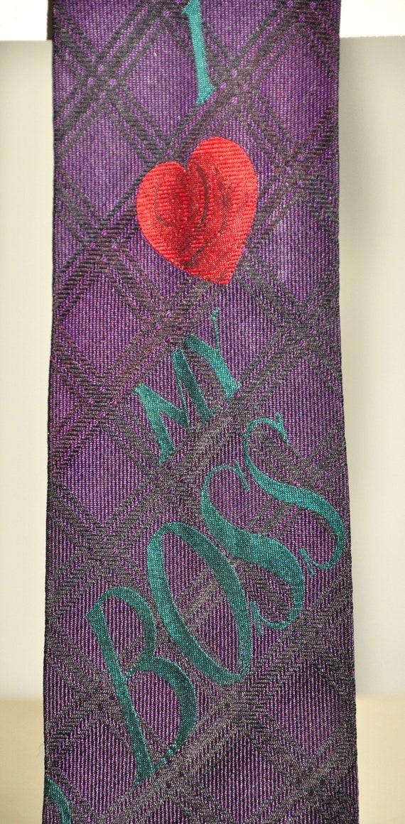 Moschino rare vintage tie 100% pure silk