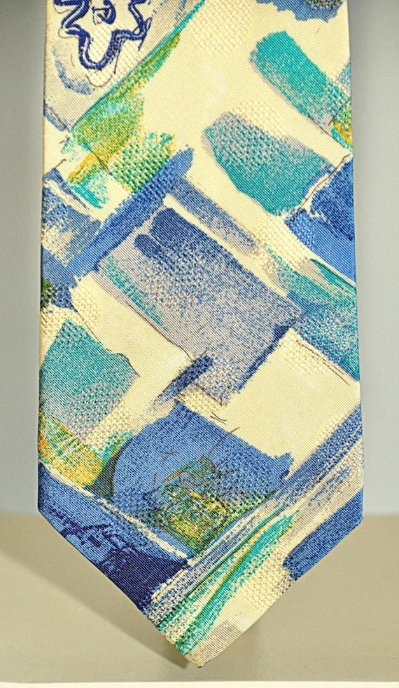 Ungaro Paris rare vintage tie 100% pure silk