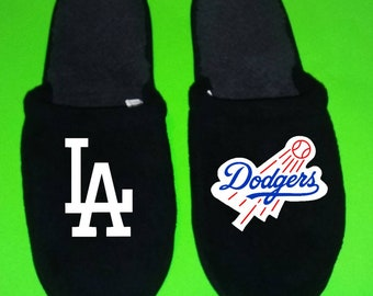 2b73a1f629ae Los Angeles Dodgers Men s Slippers   House Shoes sliders LA