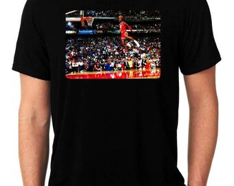 597d1317c06 Michael Jordan dunk contest t-shirt 1988 free throw line dunk