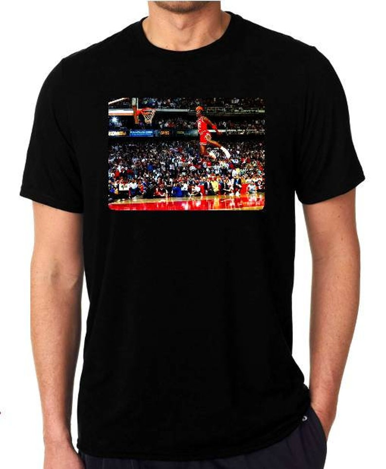 6b658ad4798c07 Michael Jordan dunk contest t-shirt 1988 free throw line dunk