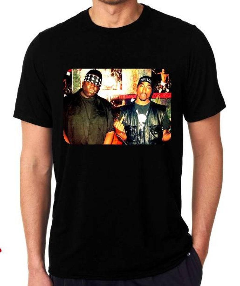 31b4db1f8 Tupac and Biggie RIP t shirt photograph 2pac Notorious BIG | Etsy
