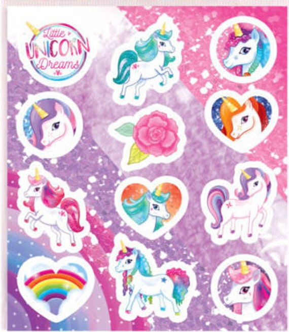 Unicorn Tattoos Temporary Party Decorations Kids Cartoon Pony Sticker Bag Filler