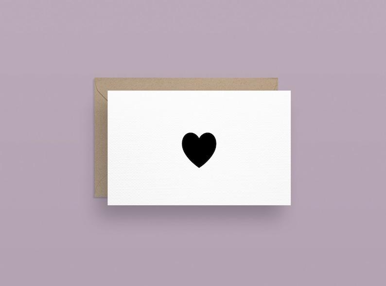 Card heart postcard image 0