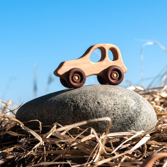 Wooden Baby Toy Jeep From The Wood Made Of Natural Wood For Etsy