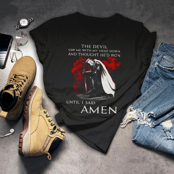 The Crusader Shirt Knight Templar T Shirt The Devil Saw Me