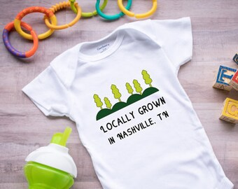 Locally made baby etsy locally grown onesie baby onesie personalized onesie newborn gift baby shower gift negle Image collections