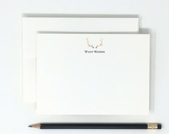 Stationary Personalized PS050 Stationery for women Personalized Stationery Boho Stationery Antler Stationery Rustic Stationery