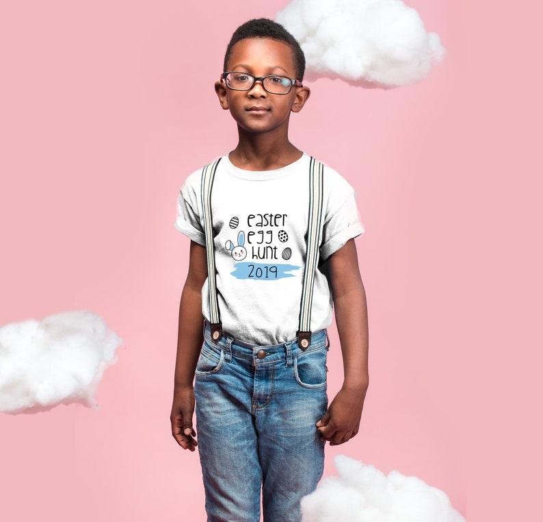 Baby T-Shirt Unisex Kids T-Shirt Toddler T-Shirt Easter Egg Hunt T-Shirt