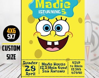 Spongebob birthday invitations etsy spongebob birthday invitation spongebob invitation spongebob party spongebob invitations spongebob squarepants birthday invitation jpg filmwisefo