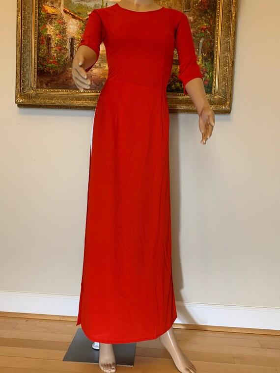 Free Priority shipping Ao Dai Silk Vietnamese Long Dress with Pants