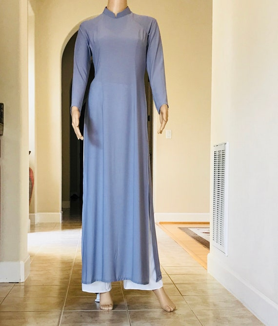 Vietnamese Ao Dai in 3D with Pants Free Fast Priority shipping