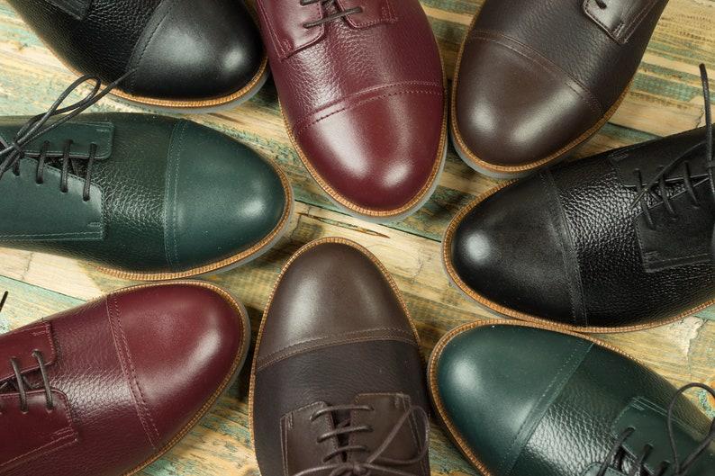Edwardian Men's Shoes & Boots | 1900, 1910s Mens Burgundy red elegant derby style mens shoes Natural leather shoes Vintage oxford style $189.00 AT vintagedancer.com