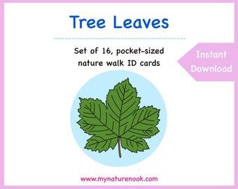Tree Leaves - Cards - Digital - Printable PDF.