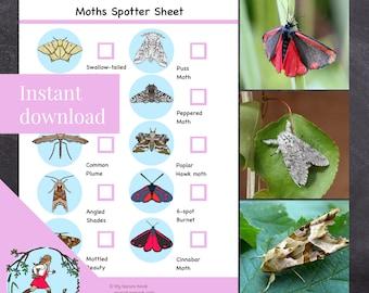 Nature scavenger hunt // Moths (Printable PDF)