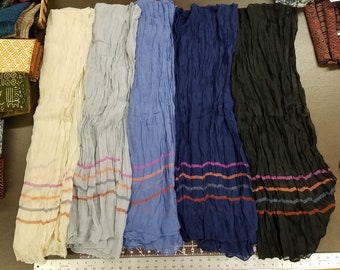 """Banana and Coconut Fiber """"Crinkle"""" Scarves (Assorted Colors)"""