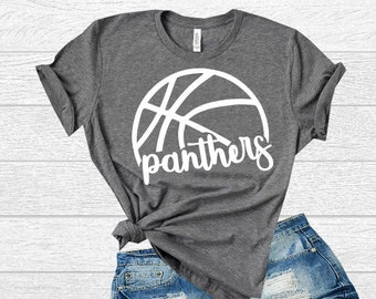 8be290d4e919 Basketball Panthers High School SVG. T-Shirt Design for Panthers Team.  Panthers Basketball Shirt Design  only