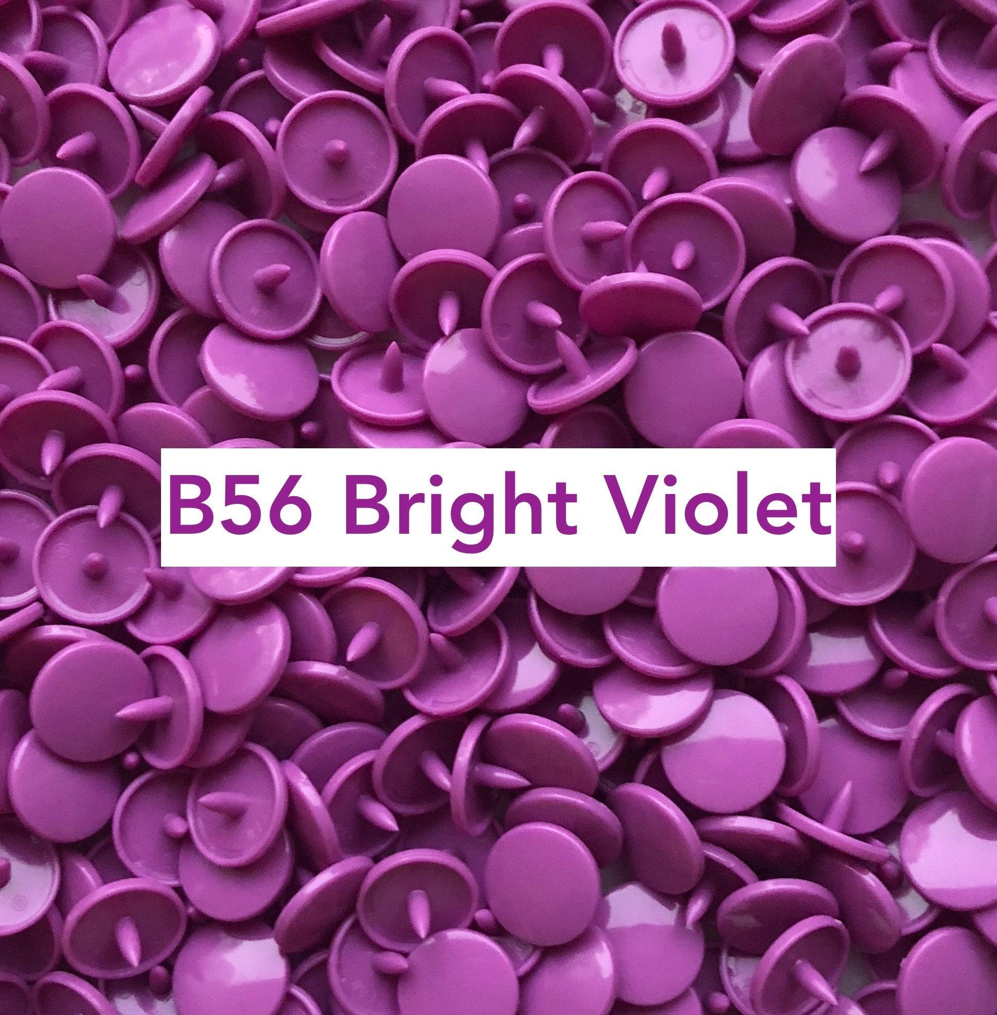 Size 20 Gloss Kam Snaps B49 Deep Purple 100 Sets