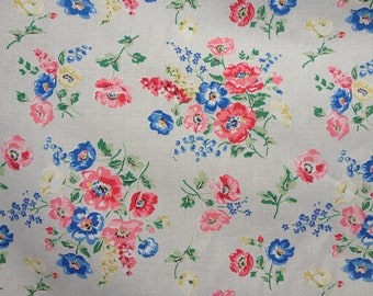 Forest Bunch Navy Kidston Cotton Duck Fabric